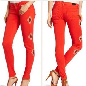 AG Stilt Tabasco Embroidered Jeans